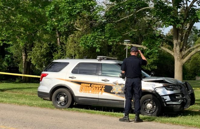 An Ionia County Sheriff's deputy is on administrative leave after killing a man police say was driving a stolen vehicle.