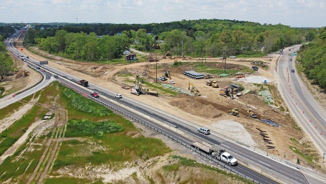 Work continues othis week on the new Ohio 39 on and off ramps at U.S. 30.