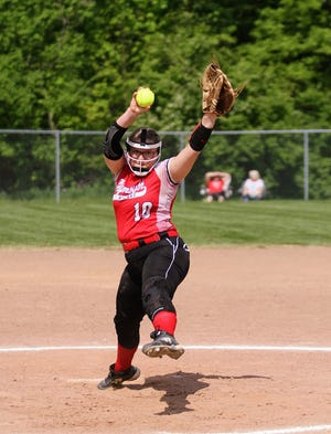 Plymouth's Ariel Plank tossed a gem of a game, but the Big Red took a loss to Mohawk in the Division IV district championship game on Friday.