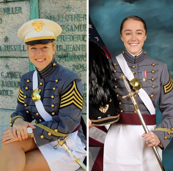 Charlotte Kuhn, left, and Caitlynne McLaughlin are graduating Saturday from the U.S. Military Academy at West Point.