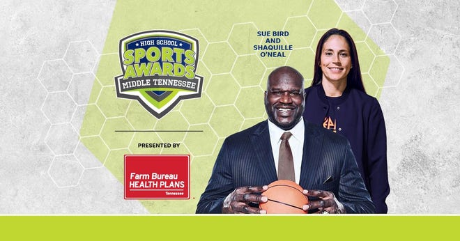 Basketball Hall of Famer Shaquille O'Neal and WNBA World Champion Sue Bird to present Athlete of the Year awards at the Middle Tennessee High School Sports Awards.