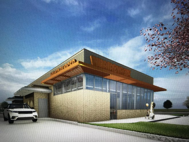 A rendering for a new Whataburger restaurant proposed in Gallatin.