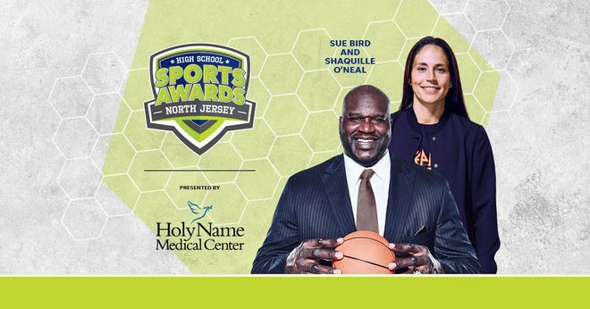 Basketball Hall of Famer Shaquille O'Neal and WNBA World Champion Sue Bird to present Athlete of the Year awards at the North Jersey High School Sports Awards.
