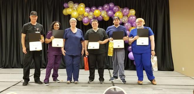 Pictured, from left, are Adun Gunkel, Claudia Jimenez, instructor Margaret Saunders, Pamela Johnson, Joe Martinez, and Haily Silva.