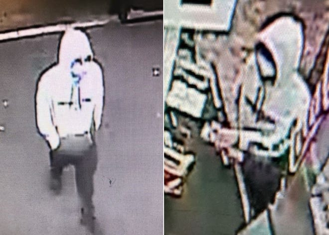 Surveillance cameras captured images of the suspect from Saturday's armed robbery at the Dollar Tree, located at 1701 E. University Ave.