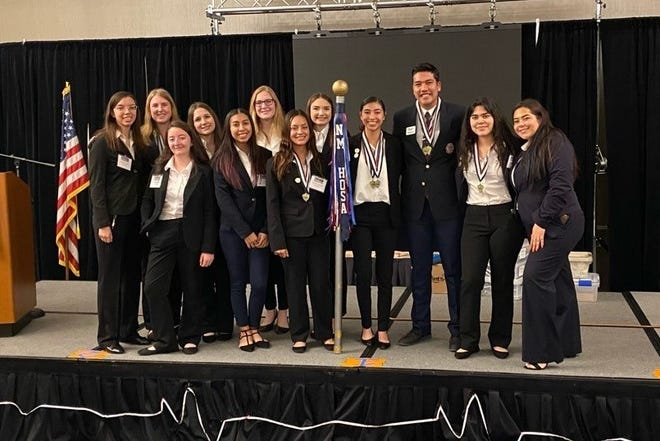OñateHigh School'sHOSAstudents — Future Health Professionals, formerly known as Health Occupations Students of America—won theirthird NMAA State Championshipduring the2021 State Leadership Conference,held virtually.