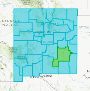 New Mexico Department of Health updated the state's COVID-19 county map Wednesday, May 19, 2021, showing all counties at the Turquoise Level with the exception of Chaves County at the Green Level.