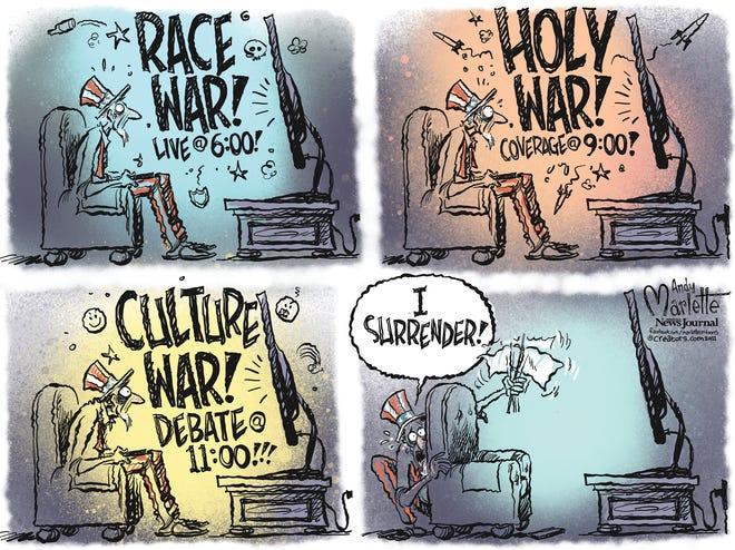 Marlette cartoon: Forever wars
