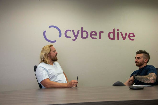 Cyber Dive was founded by Jeff Gottfurcht (left) and Derek Jackson, two dads who wanted to get a better grasp on their kids' social media.