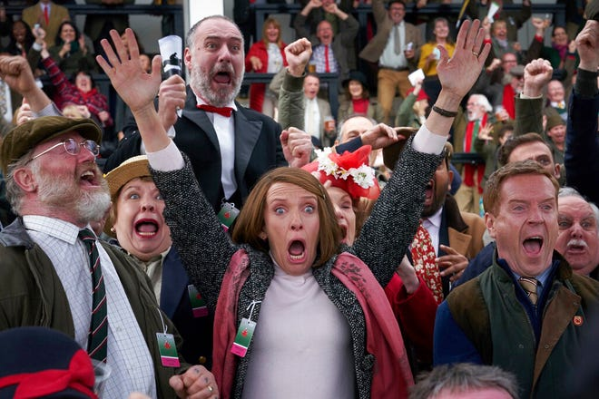 """From left, Owen Teale, Toni Collette and Damian Lewis star in """"Dream Horse."""" The movie opens Friday at Regal West Manchester, Queensgate Movies 13 and Hanover Movies 16."""