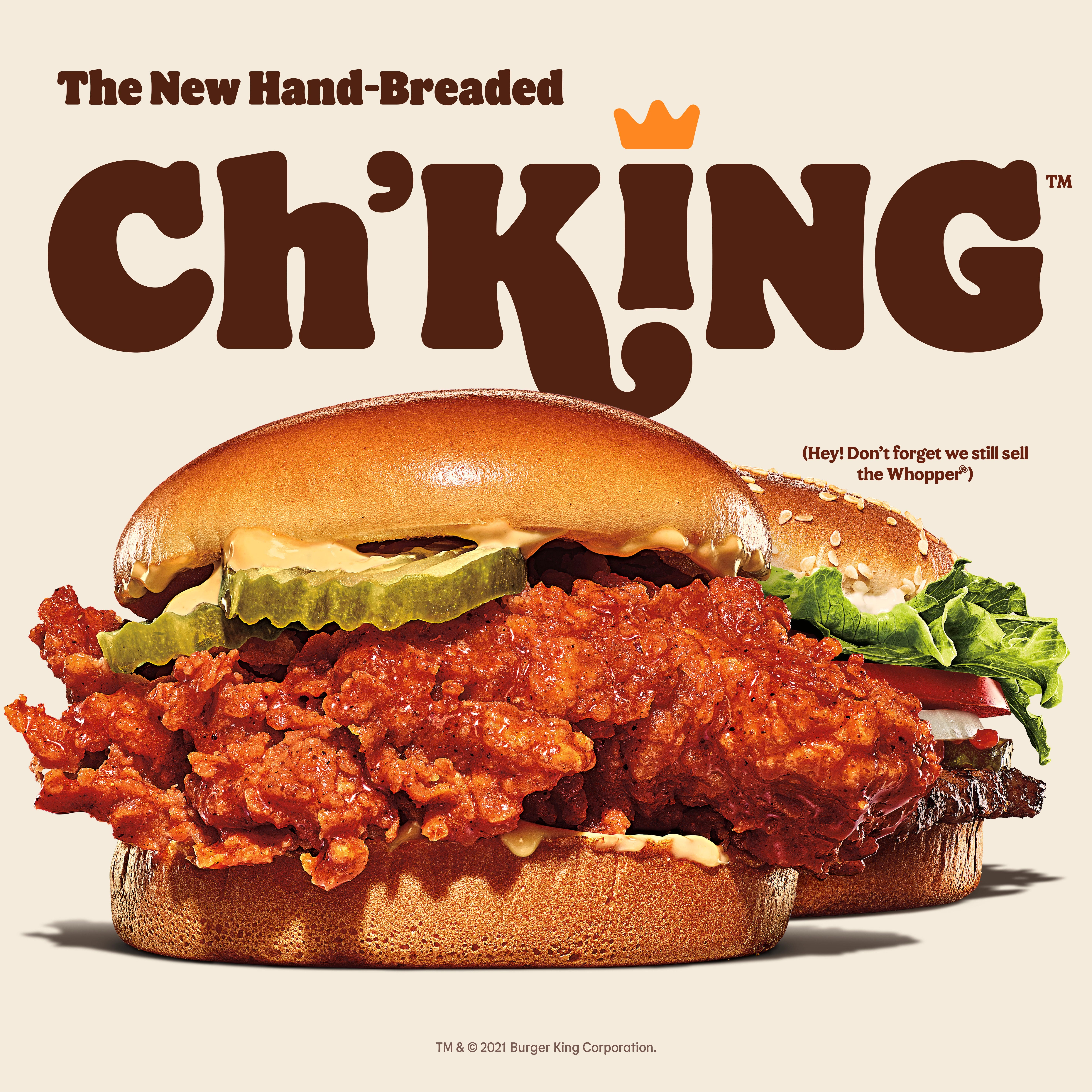 Burger King's new Ch'King chicken sandwich is available Thursday