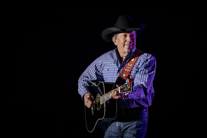 George Strait and Aaron Watson perform at the 2019 Texas Inaugural Ball at the Palmer Event Center on Tuesday January 15th