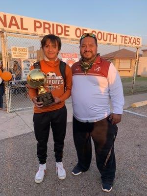 Alice freshman Zander Urrutia and head coach Juan Rivadeneyra