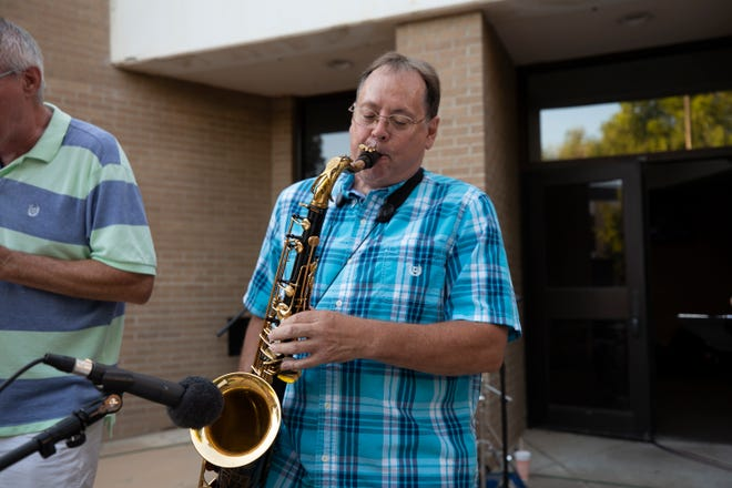 Jim Laughlin, the namesake of the Jim Laughlin AC June Jazz Series, performs at previous concerts in the series. This year's series begins Tuesday on the Washington Street campus of Amarillo College.