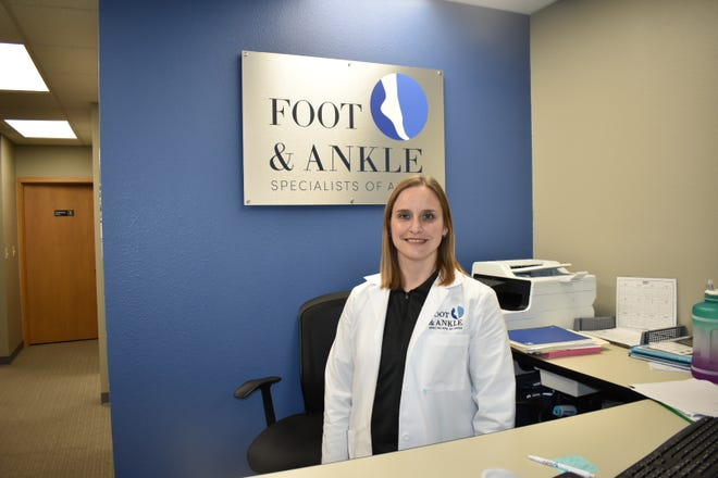 Board-certified podiatrist Erin Nelson opened her own practice, Foot and Ankle Specialists of Ames, in March. It's located at 1606 S. Duff Ave., Suite 500.