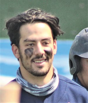 Seth Delgado swung a powerful bat for Oklahoma Wesleyan University in NAIA regional play.