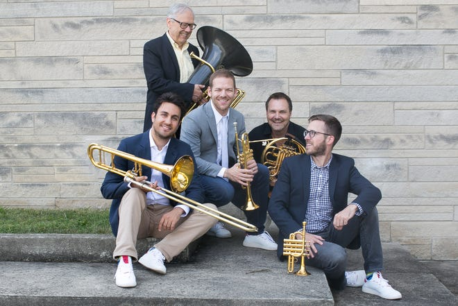 Canadian Brass will kickoff the OKM Music Festival at the Bartlesville Community Center on Thursday, June10.