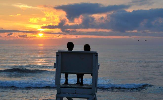 EASTHAM--Sunrise at Coast Guard Beach.
