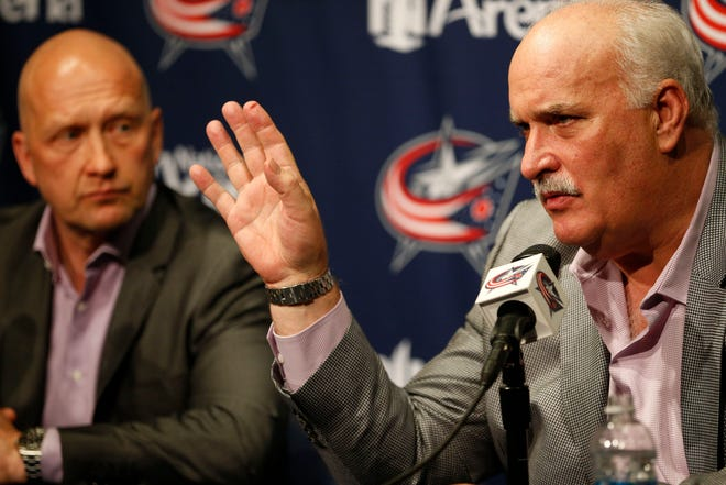 John Davidson, right, will be reunited with general manager Jarmo Kekalainen with the Blue Jackets, who hired their former executive two years after he left for a job with the New York Rangers.