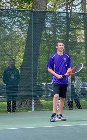 Triway's Paul Self heads into the district round of the tennis postseason after a runner-up finish at sectionals.
