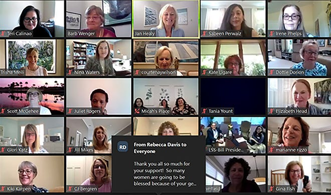 Here are some of the Women's Giving Alliance members who met via Zoom Thursday to award the 'collective giving' group's latest grants.