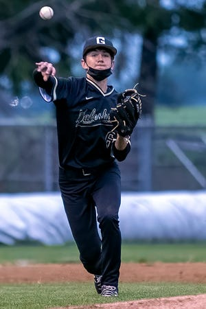 Galesburg third baseman Kadin Spencer throws to first for an assist during the Silver Streaks' 5-1 win over Knoxville on Wednesday, May 19, 2021 at Jim Sundberg Field.