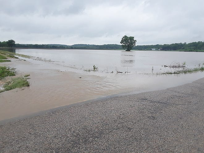 High water is shown at 231st and Limit streets in Easton.