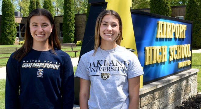 Twin sisters Mackenzie and Payton Bucki are the top graduates at Airport High School. Payton is the graduating class' valedictorian. MacKenzie is the salutatorian.