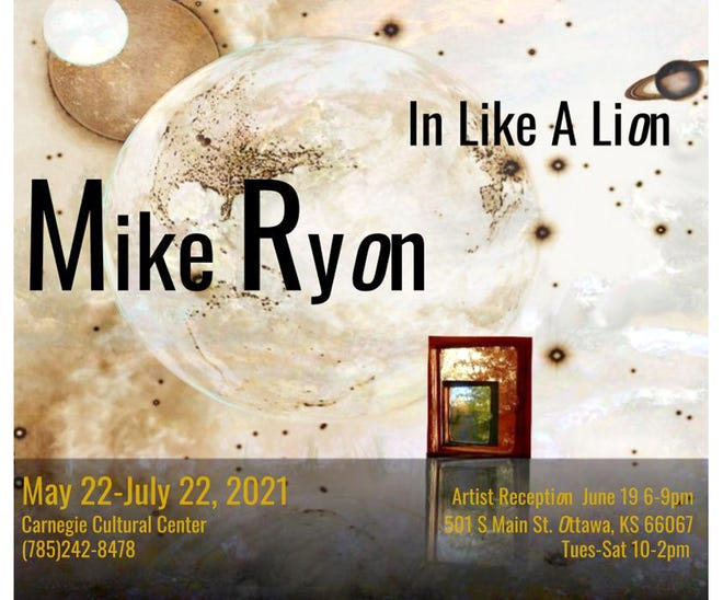 """The Carnegie Culture Center is back open after a year being closed because of the pandemic. The Center opened Saturday with Mike Ryon's """"In Like A Lion"""" exhibit, which will run through July 22."""