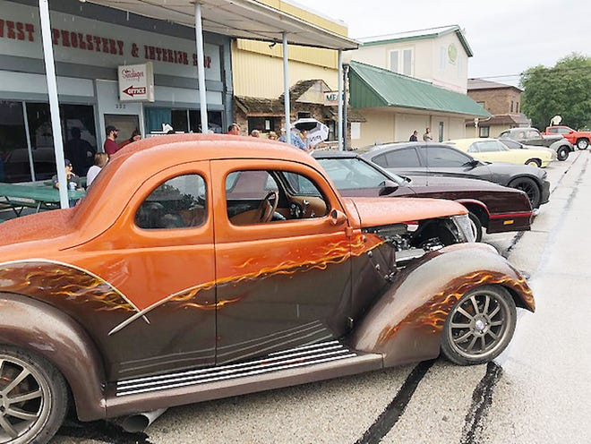 The downtown Fairbury cruise-in is shown in August 2020 along east Locust Street.