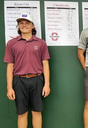 Charlevoix senior Jake Beaudoin came through with a new career-low Wednesday when he shot a 64 on Boyne Highlands' Moor course.