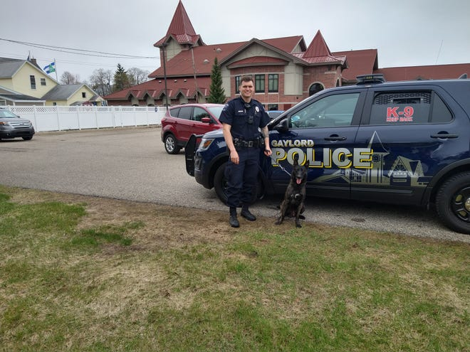 Gaylord police officer Dan Goertz is the handler for Zero, a police dog that will specialize in narcotics detection. Goertz and Zero spent the month of April training together.