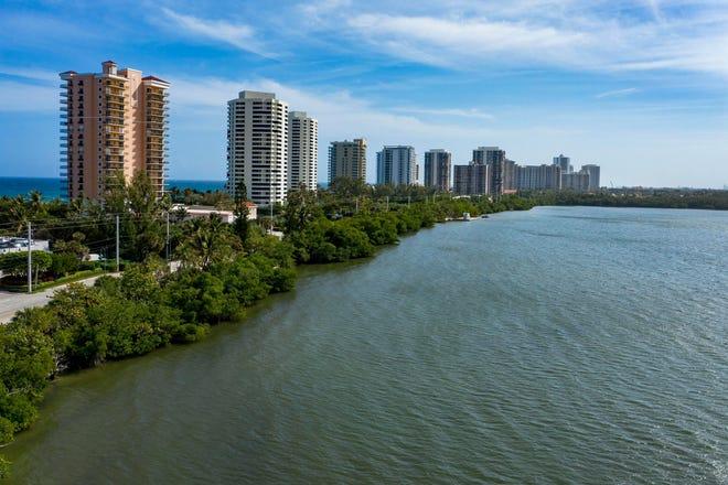The Lake Worth Lagoon on Singer Island in Riviera Beach, Florida on February 18, 2021. GREG LOVETT/PALM BEACH POST