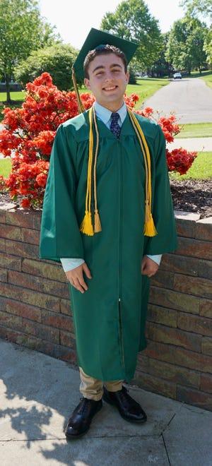 Dominic A. Gemma will graduate from GlenOak High School on May 25.