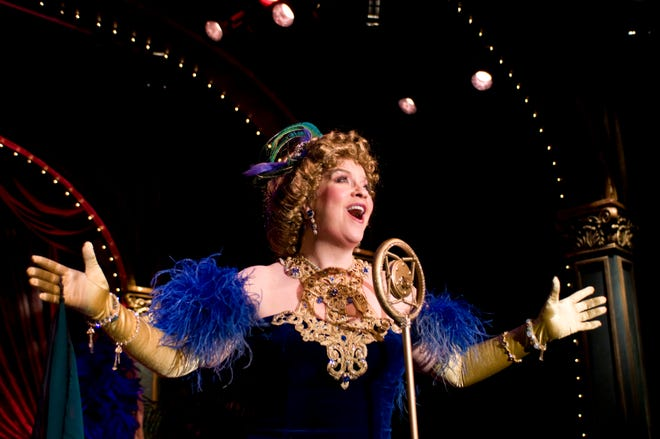 """Kathy Halenda portrays popular vaudeville and Broadway performer Sophie Tucker in """"Last of the Red Hot Mamas"""" at Florida Studio Theatre."""