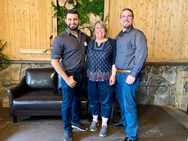 Anthony Eid, Cynthia Orton and Dustin Witjes, all commissioners of the Michigan Independent Redistricting Committee.