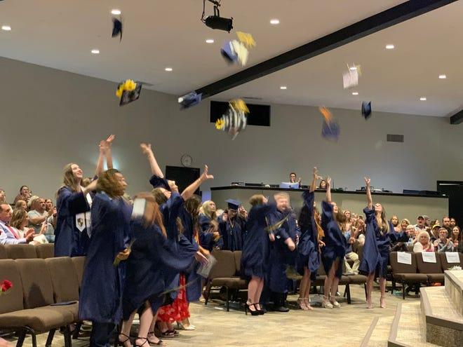 Academy of Seminole seniors celebrate their graduation.