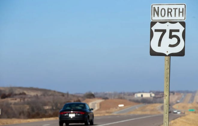 Work began Monday on a project to construct passing lanes for a two-mile stretch of US-75 highway north of Holton.