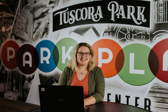 Holly Claus is the director of the Park Place Youth Center at Tuscora Park. The facility formerly called the Park Place Teen Center will open Friday with a new name and activities for children of all ages. Photo by Teai Marie Photography