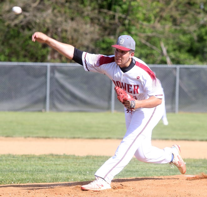 Dover Brennan McCune  fired a perfect game in the Division I Sectional baseball final against GlenOak at Dover City Park Thursday night.