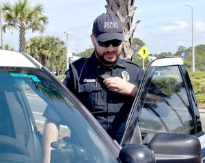 Yusuf Arafa, an officer with the Panama City Beach Police Department.