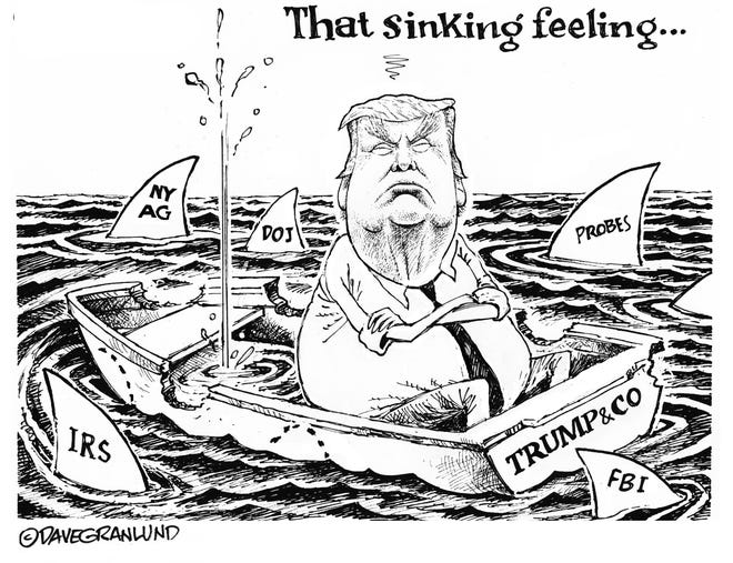 He's got that sinking feeling