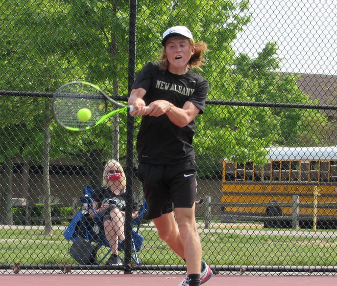 New Albany's Ryan Mudre advanced to the Division I state tournament along with doubles partner Devin Boyer.