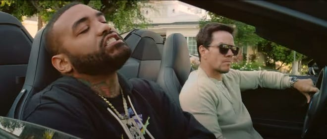 """Joyner Lucas, left, and Mark Wahlberg appear in the music video for """"Zim Zimma."""""""