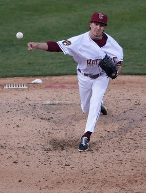 Taylor Floyd pitched the last two innings of a no-hitter for the Wisconsin Timber Rattlers against Cedar Rapids on Saturday. Freisis Adames pitched the first five innings.