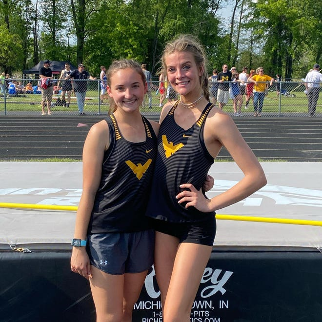 Colonel Crawford's Ayla McKibben and Liv Krassow qualified for regionals in the high jump.