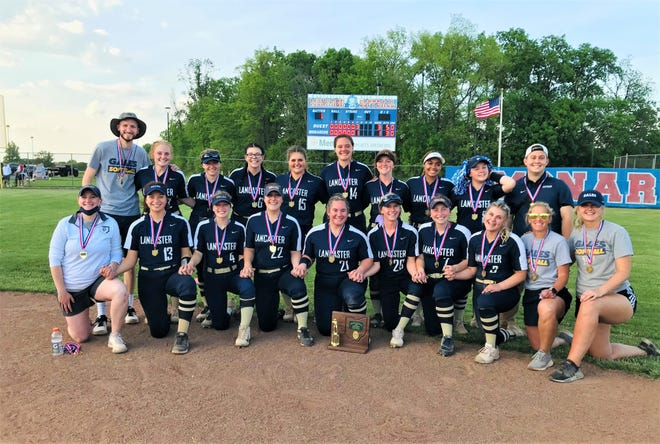 Behind the outstanding pitching of freshman Reese Poston, the Lancaster softball team defeated Marysville, 3-1, to win the Division I district championship on Wednesday.