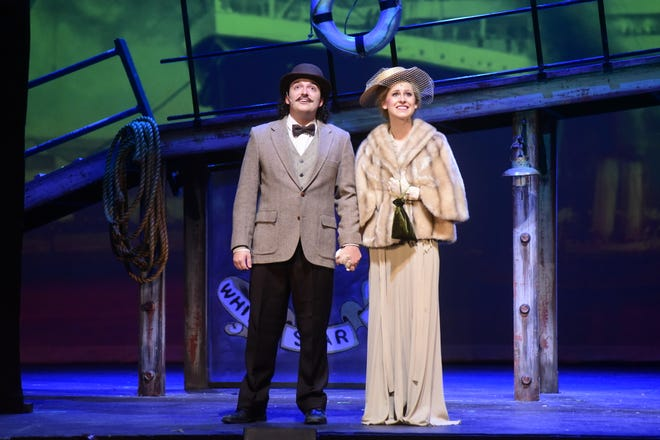 """Guests are in awe of the Titanic as they board in a scene from """"Titanic: The musical,"""" to be presented this weekend at the Renaissance Theatre."""