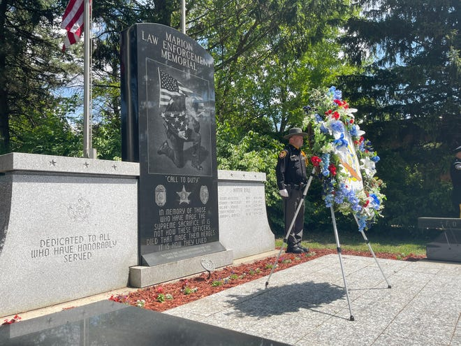 The Marion Law Enforcement Memorial is now located in the Marion Cemetery where five law enforcement members are remembered after they died in the line of duty.