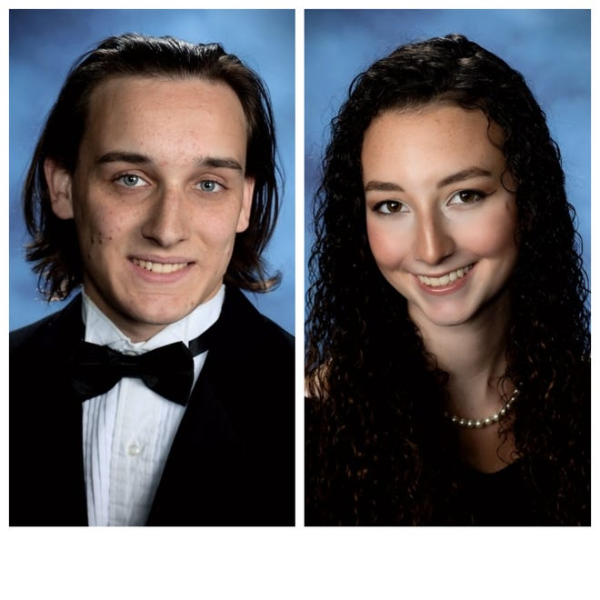 Mt. Juliet High School's Class of 2021 valedictorian and salutatorian.